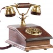 Isolated old-fashioned phone — Stock Photo