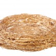 Empty golden nest — Foto Stock