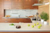 Working spase on modern kitchen — Stock Photo