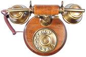 Isolerade gammaldags telefon — Stockfoto