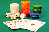 Casino accessories — Stock Photo