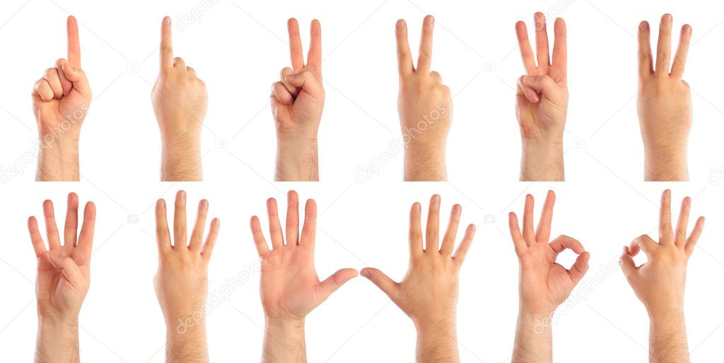 Male hands counting — Stock Photo #1015651