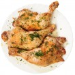 Fried chicken legs with dill from up — Stock Photo #1020563