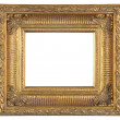 Isolated decorative bronze frame — Photo