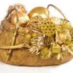 Isolated christmas basket — Stock Photo