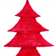 Decorative christmas tree isolated — Stock Photo