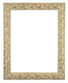 Solated decorative old white bronze fram — Stock Photo