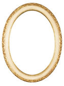 Isolated oval frame — Stock Photo