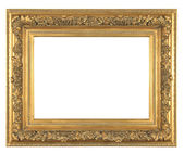 Isolated decorative bronze frame — Stock Photo