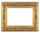 Isolated decorative bronze frame — Stock Photo