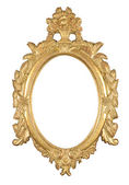 Isolated oval bronze frame — Stock Photo