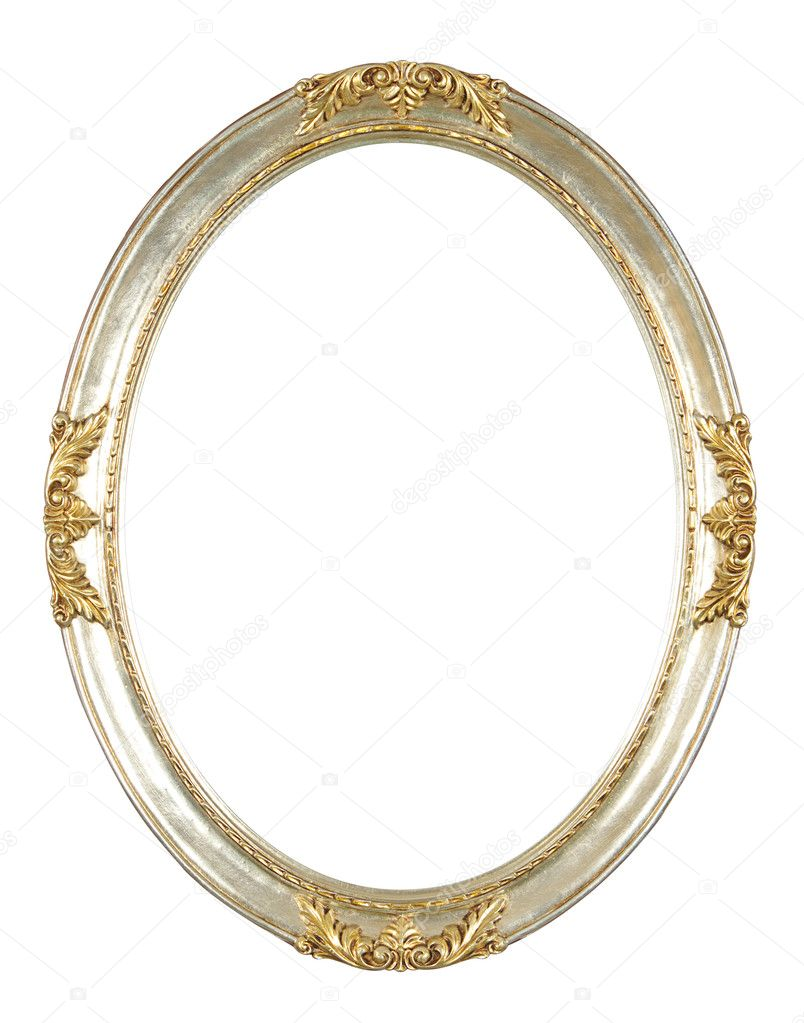 Isolated oval frame with clipping path — Stock Photo #1021418