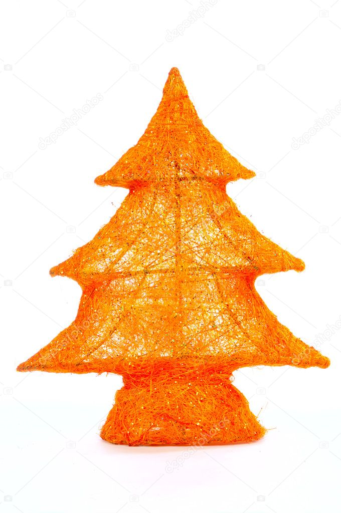 Decorative stylish christmas tree isolated on white background — Stock Photo #1021978