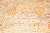 Eski harita parçası — Stok fotoğraf