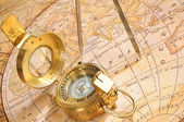 Old-age compass — Stock Photo