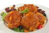 Friedchicken thighs — Stock Photo