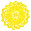Knitted sun - Stock Photo