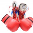 Boxing boots and gloves — Stok Fotoğraf #1033645