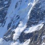 Avalanche jump — Stock Photo