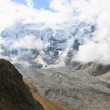 Huge mountain and clouds — Stock Photo