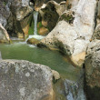 Stock Photo: Mountain stream in a calcareous rock