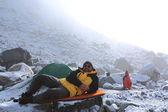 Mountaineering camp — Stock Photo