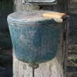 Old village wash stand with soap. — Stock Photo #1014532