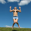 Jumping girl — Stock Photo #1018545