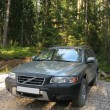 Royalty-Free Stock Photo: 4x4 European wagon parked on a forest.