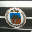 Latvian police car`s door — Stock Photo