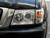 4x4 jeep`s head light. — Stock Photo
