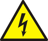 Danger of defeat by an electric current. — Stock Photo