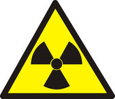 Dangerously. Radioactive substances — Stock Photo