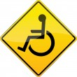 Disabled person sign. — Stock Photo