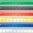 Glossy school rulers set. Vector design — Stock Photo #1097662
