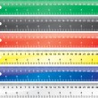 Glossy school rulers set. Vector design — Stock Photo