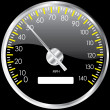 Stock Photo: Chrome speedometer. Vector design elemen
