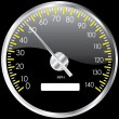 Chrome speedometer. Vector design elemen — Stock Photo