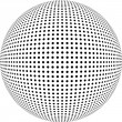 Dotted sphere. Vector design element. — Photo