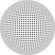 Dotted sphere. Vector design element. - Stock Photo