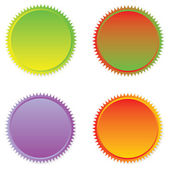Stickers set. Vector design element. — Stock Photo