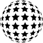 Star sphere. Vector design element. — Stock Photo