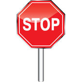 Glossy stop sign. — Stock Photo