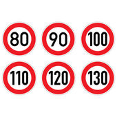 Road signs 80-130. — Stock Photo