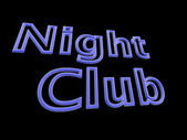 Neon text - night club. — Stock Photo