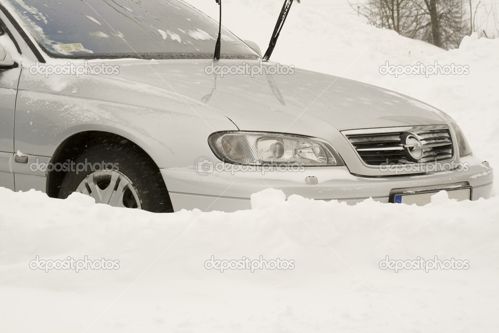 Car in snow. Editorial image. — Stock Photo #1552024