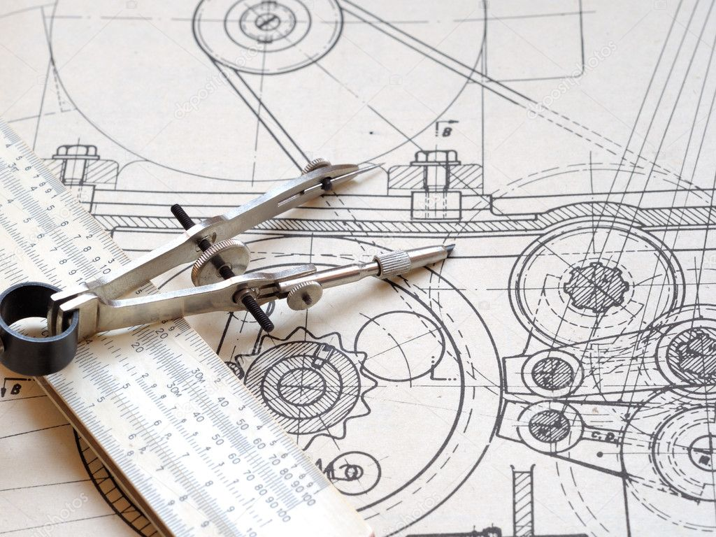 Drawing detail and drawing tools — Stock Photo #1013697