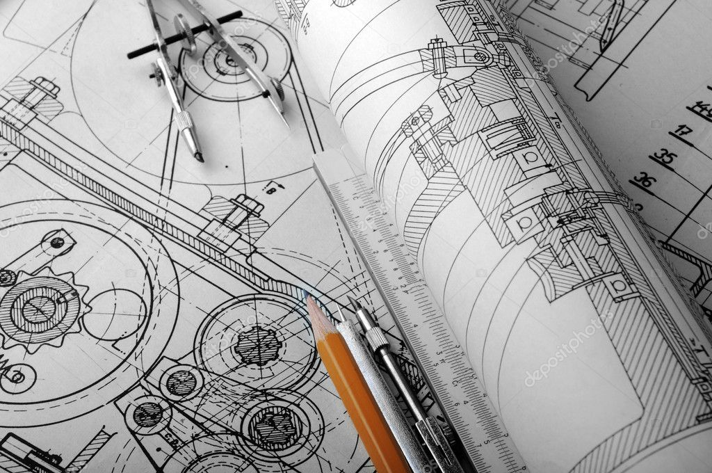 Drawing detail and drawing tools — Stockfoto #1014923