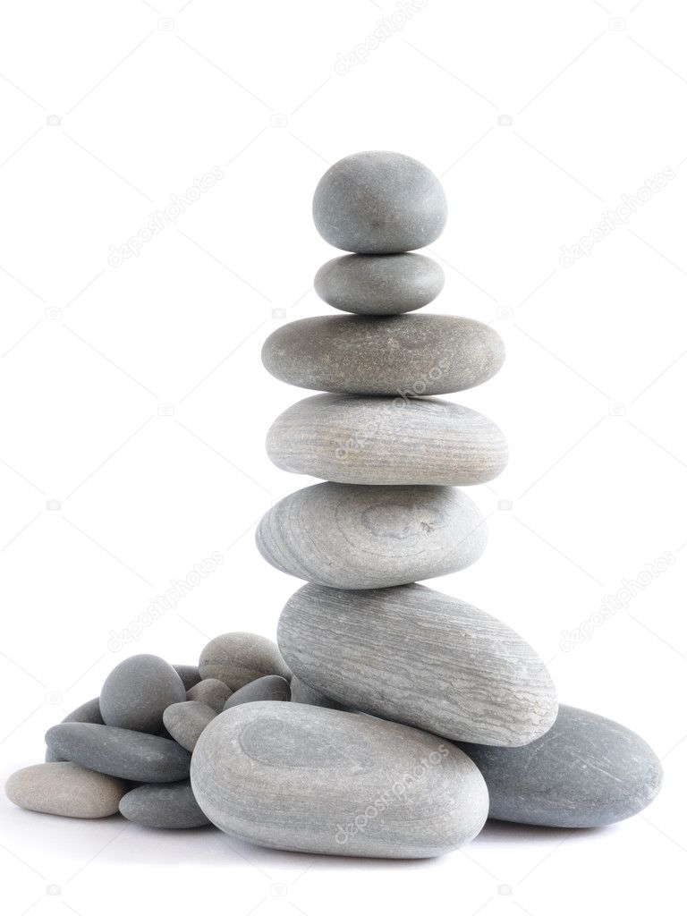 zen stones on the white background — Stock Photo #1038327