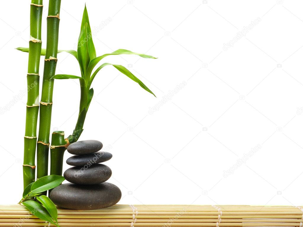Zen stones and bamboo — 图库照片 #1046473